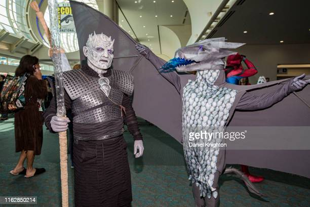 Cosplayer Jim Hampshire as The Night King from Game of Thrones attends Comic-Con International on July 18, 2019 in San Diego, California.