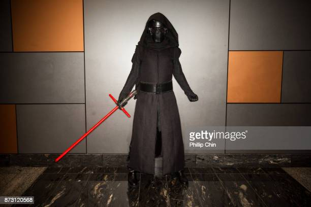 Cosplayer Liam Husdon aka Kylo Ren attends Fan Expo Vancouver at Vancouver Convention Centre on November 11 2017 in Vancouver Canada