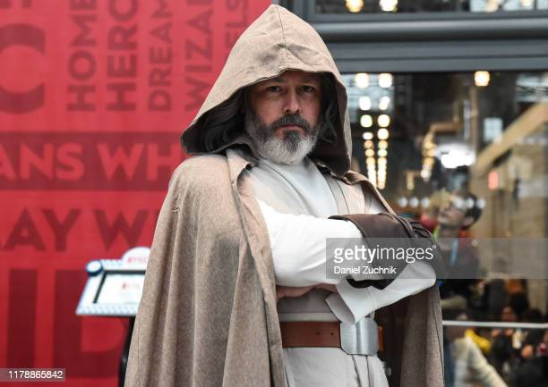 Cosplayer poses as Luke Skywalker during New York Comic Con 2019 on October 03, 2019 in New York City.