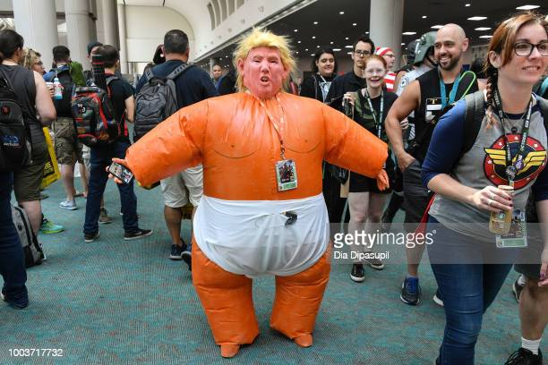 A cosplayer poses at San Diego ComicCon International 2018 on on July 21 2018 in San Diego California