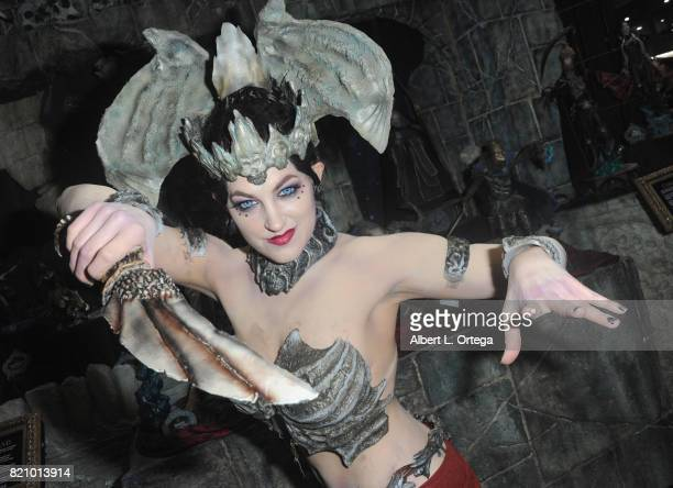 Cosplayer poses during 2017 ComicCon International at San Diego Convention Center on July 22 2017 in San Diego California