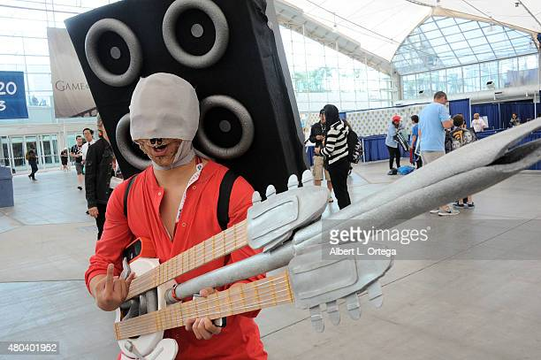 A cosplayer poses during ComicCon International 2015 on July 11 2015 in San Diego California