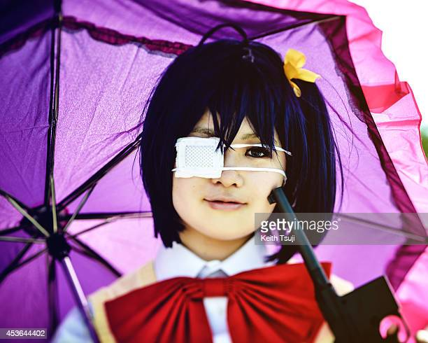 A cosplayer poses during the Comic Market 86 at Tokyo Big Sight on August 15 2014 in Tokyo Japan