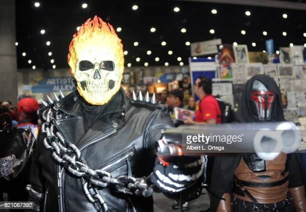 A cosplayer poses for a photo during 2017 ComicCon International at San Diego Convention Center on July 22 2017 in San Diego California