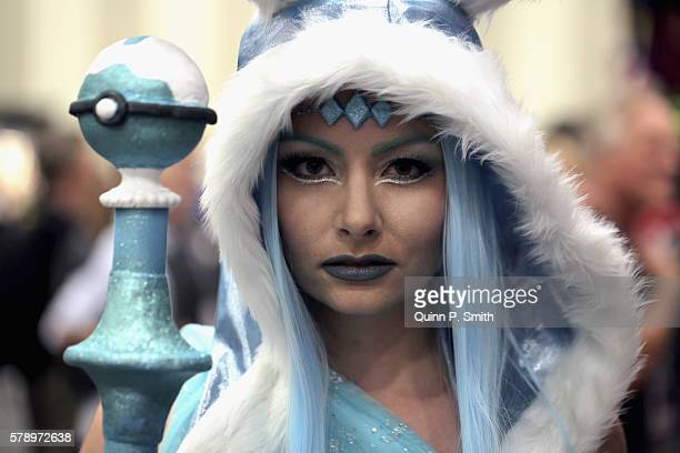 A cosplayer poses for a photo during ComicCon International 2016 on July 22 2016 in San Diego California