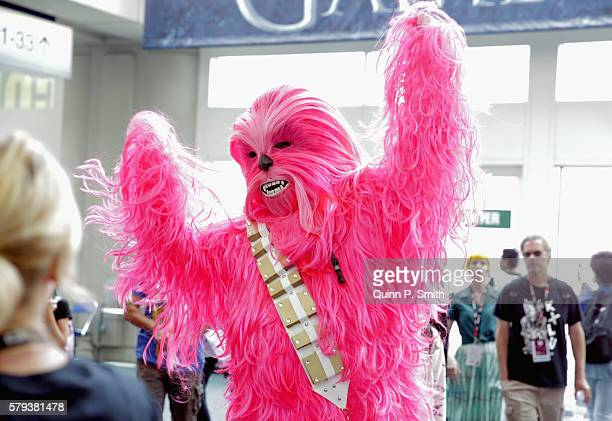 A cosplayer poses for a photo during ComicCon International 2016 on July 23 2016 in San Diego California