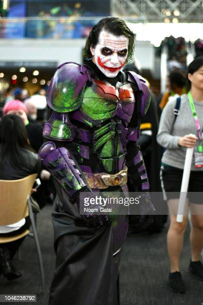 A cosplayer poses for a photo during New York Comic Con 2018 at Jacob K Javits Convention Center on October 5 2018 in New York City