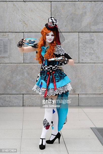 Cosplayer poses for a photo during the Leipzig Book Fair 2016 on March 18, 2016 in Leipzig, Germany. From March 17 to March 20 more than 2000...