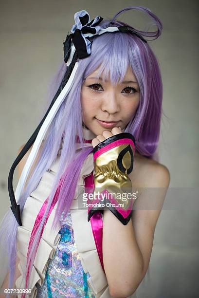 A cosplayer poses for a portrait at the cosplay area during the Tokyo Game Show 2016 on September 17 2016 in Chiba Japan The Tokyo Game Show 2016 is...