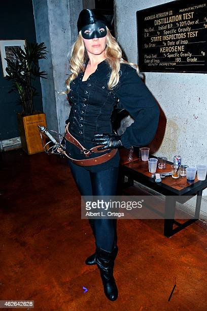 Cosplayer Rachel Day dressed as The Dread Pirate Roberts from 'Princess Bride' at Club Cosplay LA held at OHM Nightclub on January 18 2015 in...