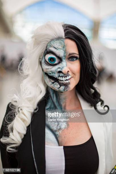 Cosplayer Sheila Noseworthy poses at 2019 Comic-Con International on July 19, 2019 in San Diego, California.