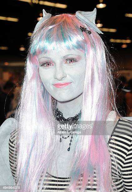 Cosplayer Stephanie McLean as Rochelle Goyle from Monster High attends WonderCon Anaheim 2014 Day 1 held at Anaheim Convention Center on April 18...