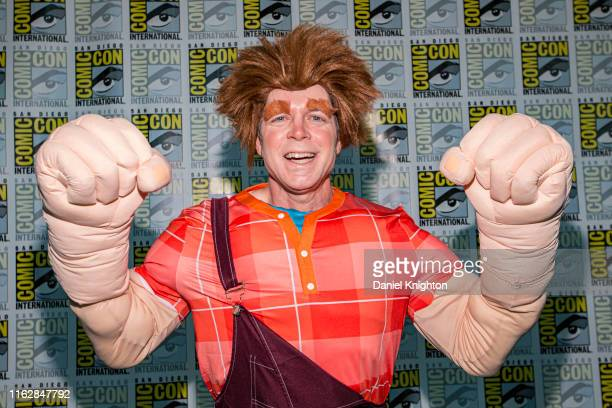 Cosplayer Steve Galvin as Wreck It Ralph attends Comic-Con International on July 18, 2019 in San Diego, California.
