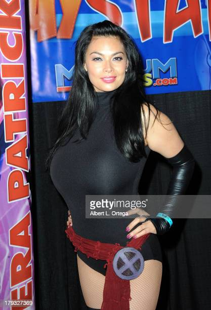 Cosplayer Tera Patrick as Psylocke attends Day 3 of Wizard World Chicago Comic Con held at Donald E Stephens Convention Center on August 11 2013 in...