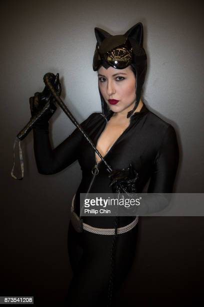 Cosplayer Teryl Dactyl aka Catwoman attends Fan Expo Vancouver at Vancouver Convention Centre on November 12 2017 in Vancouver Canada