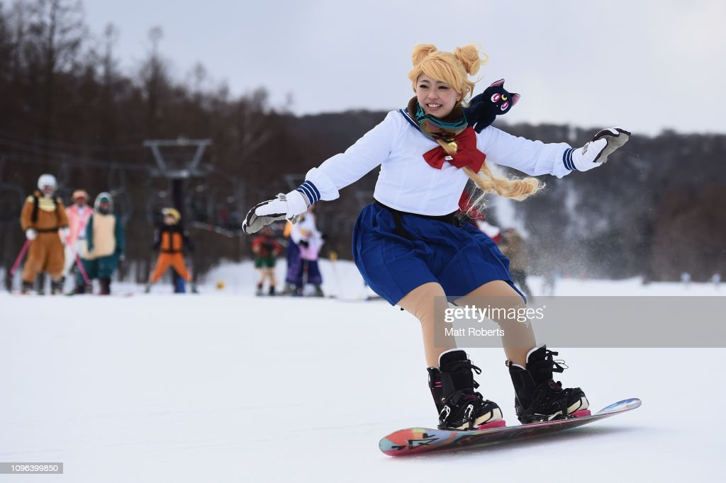 JPN: Cosplayers Compete At Japanese Ski Resort