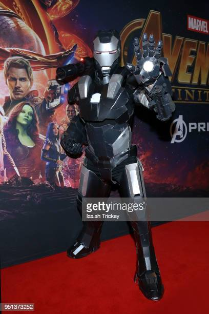 Cosplayers arrive at the Canadian Premiere Of Avengers Infinity War at Scotiabank Theatre on April 25 2018 in Toronto Canada