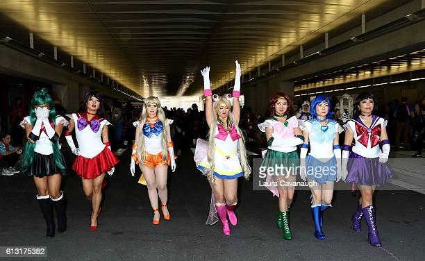 Cosplayers attend 2016 New York Comic Con Day 2 on October 7 2016 in New York City