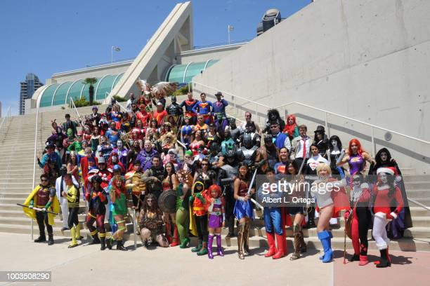 Cosplayers attend 2018 ComicCon International on July 21 2018 in San Diego California