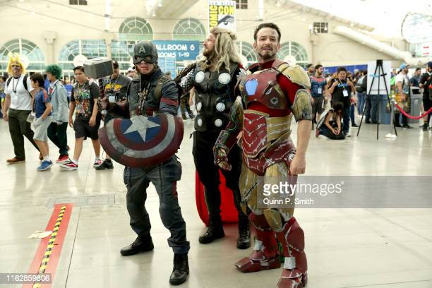 Cosplayers attend 2019 Comic-Con International on July 18, 2019 in San Diego, California.