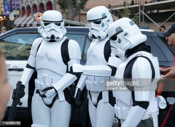 Cosplayers attend 2019 ComicCon International on July 18 2019 in San Diego California