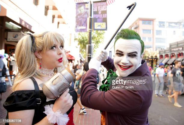Cosplayers attend 2019 ComicCon International on July 19 2019 in San Diego California