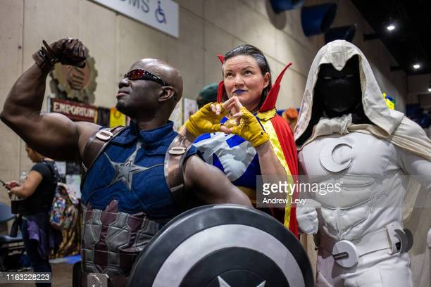 Cosplayers attend 2019 Comic-Con International on July 19, 2019 in San Diego, California.