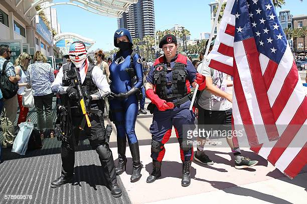 Cosplayers attend ComicCon International 2016 on July 22 2016 in San Diego California
