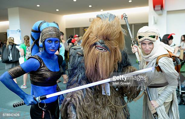 Cosplayers attend ComicCon International on July 21 2016 in San Diego California