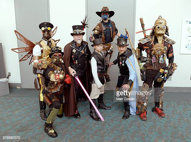 Cosplayers attend ComicCon International on July 23 2016 in San Diego California