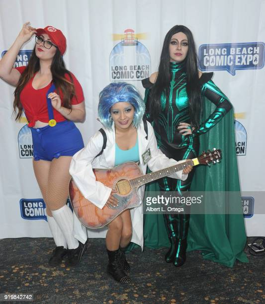 Cosplayers attend day 1 of the 8th Annual Long Beach Comic Expo held at Long Beach Convention Center on February 17 2018 in Long Beach California