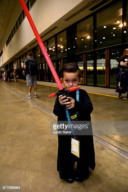 Cosplayers attend day 1 of WonderCon 2016 at Los Angeles Convention Center on March 25, 2016 in Los Angeles, California.