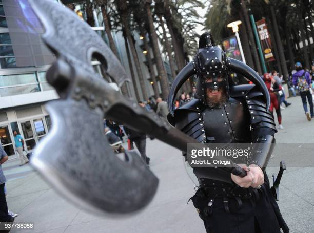 Cosplayers attend Day 2 of Wonder Con 2018 held at Anaheim Convention Center on March 24 2018 in Anaheim California