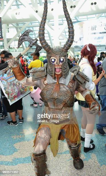 Cosplayers attend day 3 of Anime Expo 2018 held at Los Angeles Convention Center on July 7 2018 in Los Angeles California