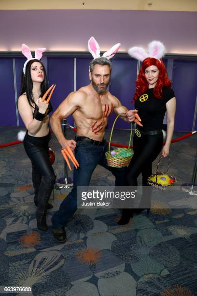 Cosplayers attend Day 3 of WonderCon 2017 at Anaheim Convention Center on April 2 2017 in Anaheim California