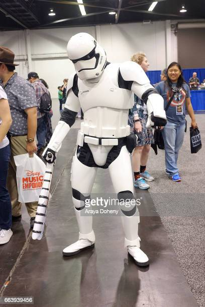 Cosplayers attend day three of WonderCon 2017 at Anaheim Convention Center on April 2 2017 in Anaheim California