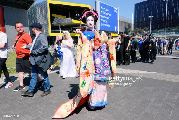 Cosplayers attend MCM Comic Con at ExCeL convention centre in London United Kingdom on May 26 2017