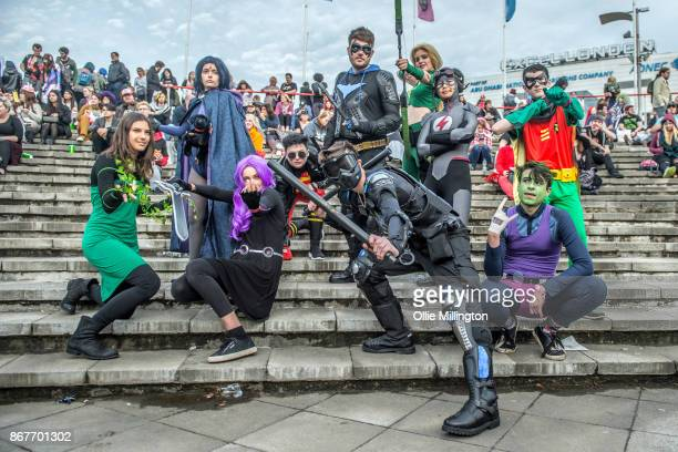 Cosplayers attend MCM London Comic Con 2017 held at the ExCel on October 28 2017 in London England