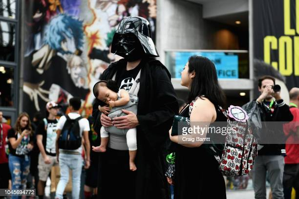 Cosplayers attend New York Comic Con 2018 at Jacob K Javits Convention Center on October 4 2018 in New York City