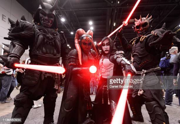 Cosplayers attend Star Wars Celebration at McCormick Place Convention Center on April 11, 2019 in Chicago, Illinois.