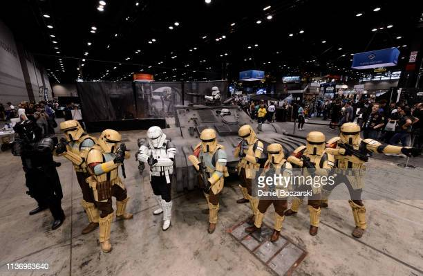 Cosplayers attend Star Wars Celebration at McCormick Place Convention Center on April 11 2019 in Chicago Illinois