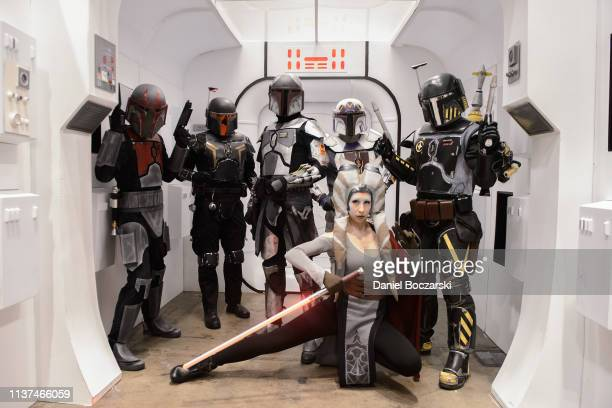 Cosplayers attend Star Wars Celebration at McCormick Place Convention Center on April 15, 2019 in Chicago, Illinois.