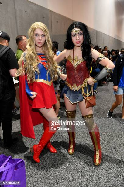 Cosplayers attend the 2017 ComicCon International at the San Diego Convention Center on July 22 2017 in San Diego California