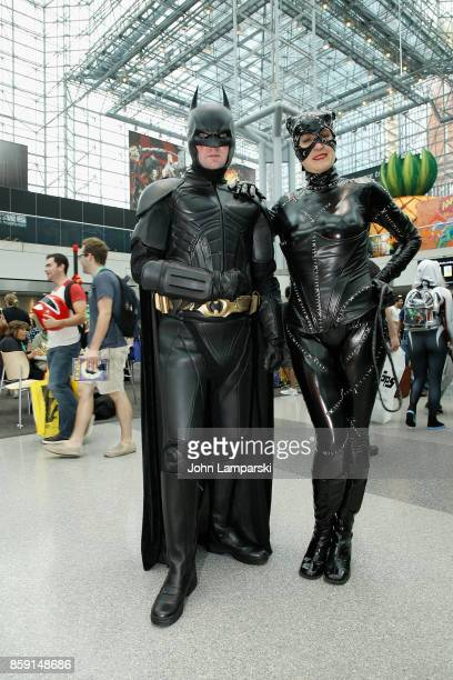 Cosplayers attend the 2017 New York Comic Con day 4 on October 8 2017 in New York City