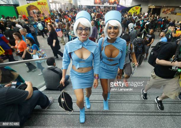 Cosplayers attend the 2017 New York Comic Con on October 8 2017 in New York City