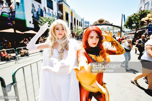 Cosplayers attend the 2019 Comic-Con International on July 19, 2019 in San Diego, California.