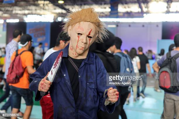 Cosplayers attend the 2nd Tunis Comic Con in Tunis Tunisia on July 9 2017