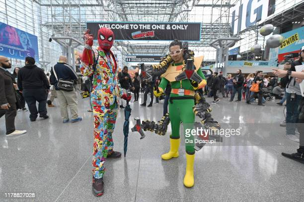 Cosplayers attend the New York Comic Con at Jacob K Javits Convention Center on October 03 2019 in New York City