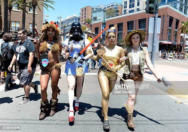 Cosplayers attends ComicCon International on July 21 2016 in San Diego California