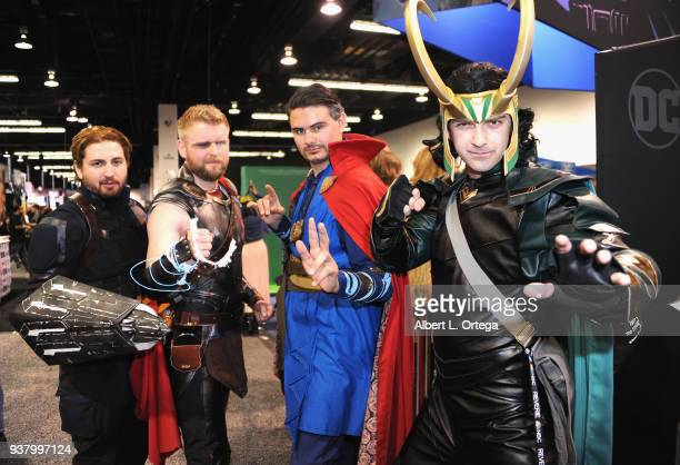 Cosplayers attends day 3 of WonderCon 2018 held at Anaheim Convention Center on March 25 2018 in Anaheim California